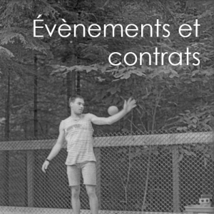 évènements et contrats